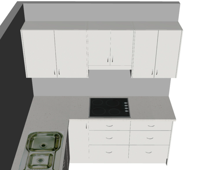 Galley with return Large (3D2)