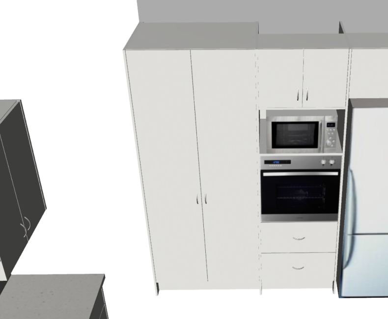 Galley with return Large (3D3)