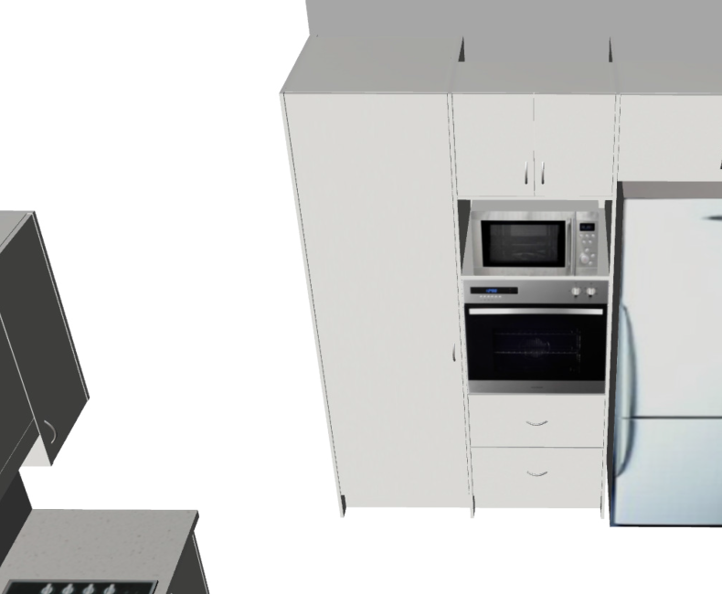Galley with return Medium (3D2)